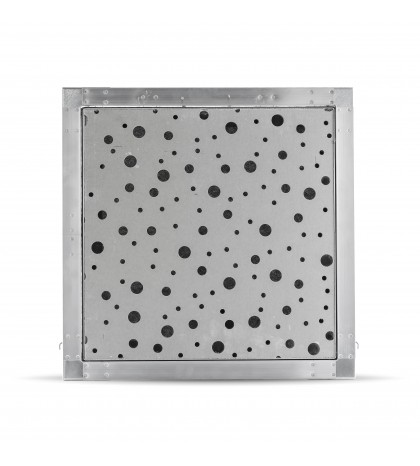 trappe de visite 60x60 perforé 8/15/20R voile noir 13mm