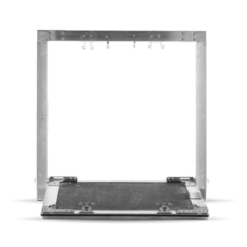 trappe de visite 60x60 perfor 8 15 20r voile blanc 13mm. Black Bedroom Furniture Sets. Home Design Ideas