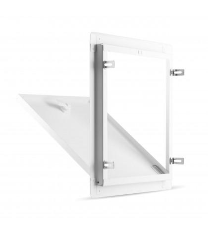 trappe de visite en tôle d'acier galvanisé avec clé carrée modèle 30X30 EUROPA