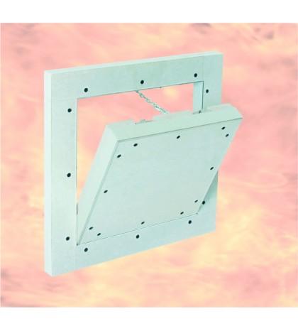 Trappe de visite 600 x 600 mm / System F5-EI60 / 30 mm GKF / pour mur
