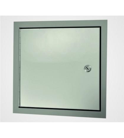 Système EXT - Trappe en aluminium d'une épaisseur de 1 mm, avec isolation intérieure 600 x 600 mm / pour extérieur