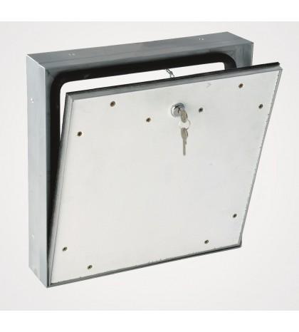 Système MPWD - trappe d'accès extérieure étanche 500 x 500 mm / pour façade / avec couvercle