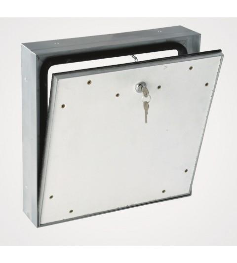 Système MPWD - trappe d'accès extérieure étanche 600 x 600 mm / pour façade / avec couvercle