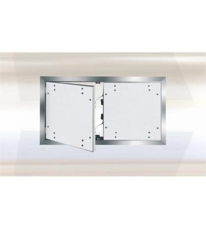 Trappe Système F2 Alu 1450x 1400 mm. Double porte. Plaque Hydro 12,5 mm. Plaque boulonnée