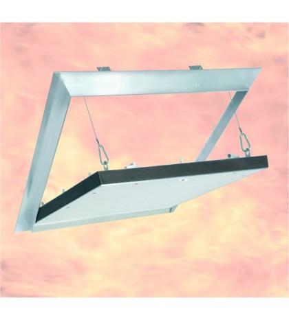 System F6 Trappe EI-30 / 200 x 200 mm / 25 mm GKF / Plafond