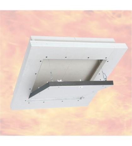 Système F6 Trappe de visite Alu EI-90 / 300 x 300 mm / 40 mm GKF / Plafond
