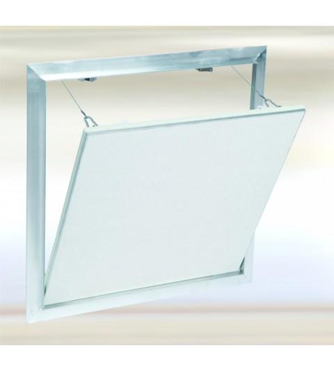 Système F2 Alu 800x700 mm. Plaque Hydro 12,5 mm Plaque à vis. Large fermeture latérale.