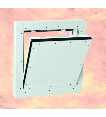 System F5 Trappe de visite Alu EI-90/200 x 200 mm / 40 mm GKF / Mur