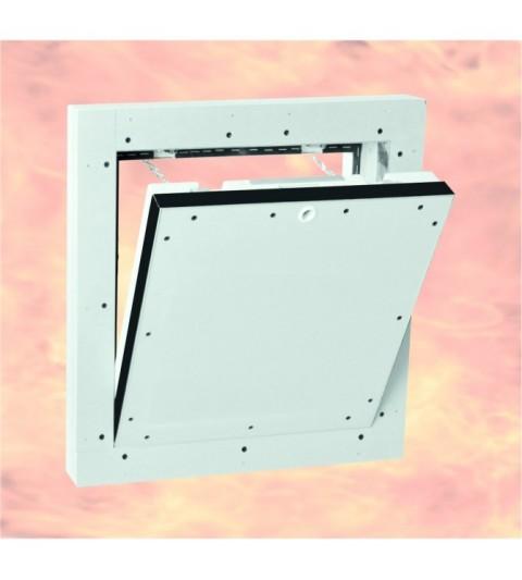 System F5 Trappe de visite Alu EI-120/ 400 x 400 mm / 50 mm GKF / Mur