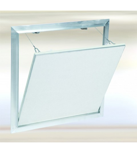 Systèm F2 Alu 1000x1000 mm. Plaque Hydro 12,5 mm Plaque à vis. Large fermeture latérale.